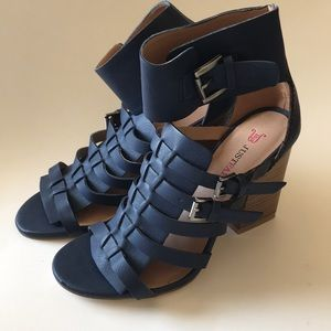 just fab strappy heeled shoes